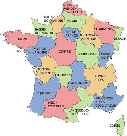 Les r gions en france - Region la plus sure de france ...