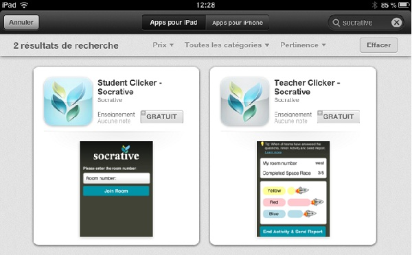 Socrative sur iTunes